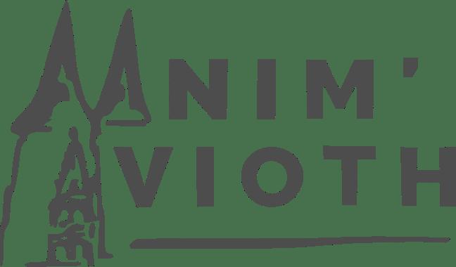 Logo des Freiwilligenvereins Anim'Avioth, einem Kontaktverein, der sich mit Aktivitäten rund um die Basilika und das Dorf Avioth beschäftigt.