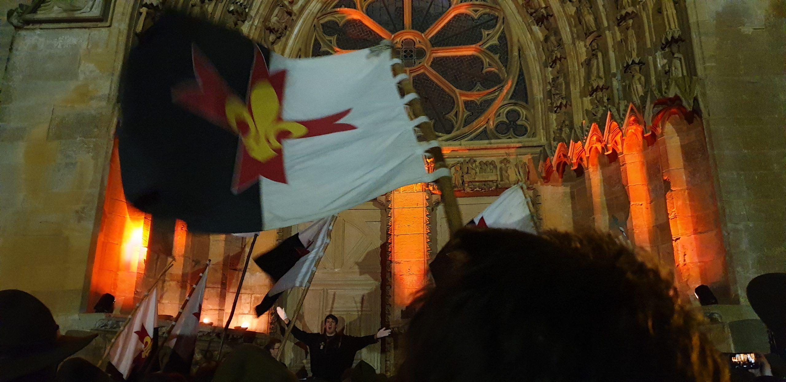 Des scouts dans la basilique !