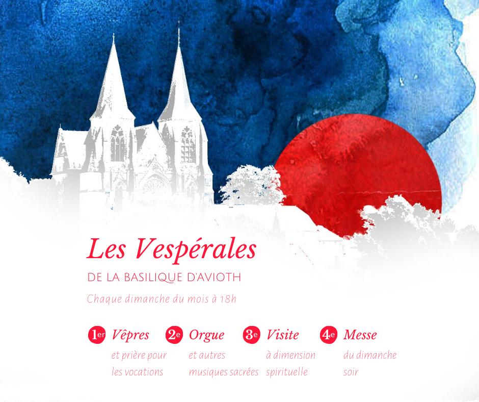 Affiche des Vespérales de la Basilique d'Avioth 2020